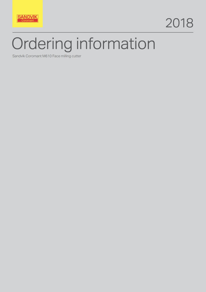 Sandvik Coromant Ordering Information