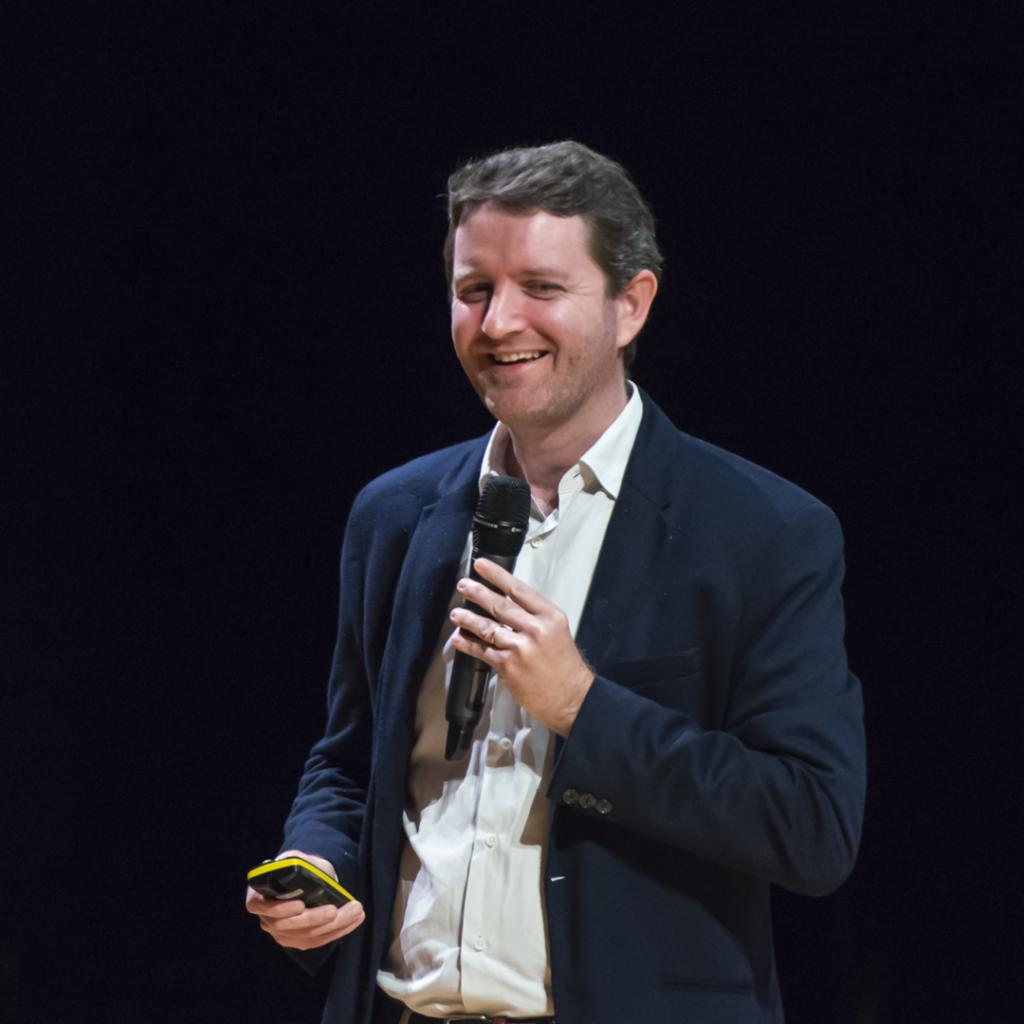 Alexandre Perrin at a Berklee talk