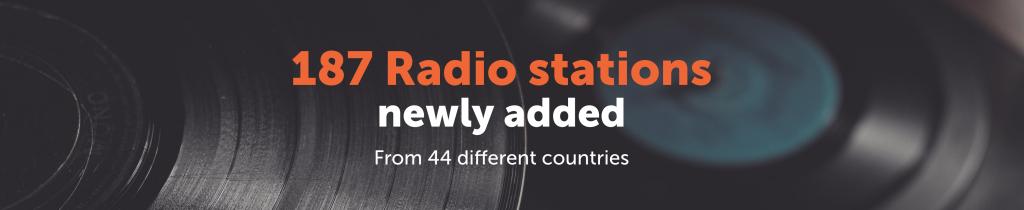 WARM - Newly added radio stations October|radio Warm|warm radio stations