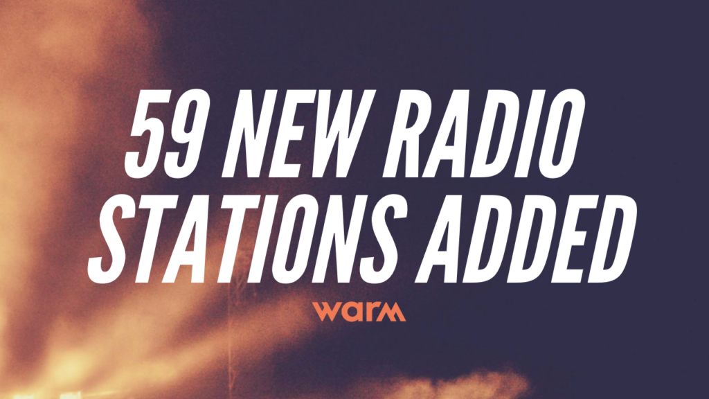 new radio stations (2)|WARM - New radio stations added!|WARM - New radio stations added!