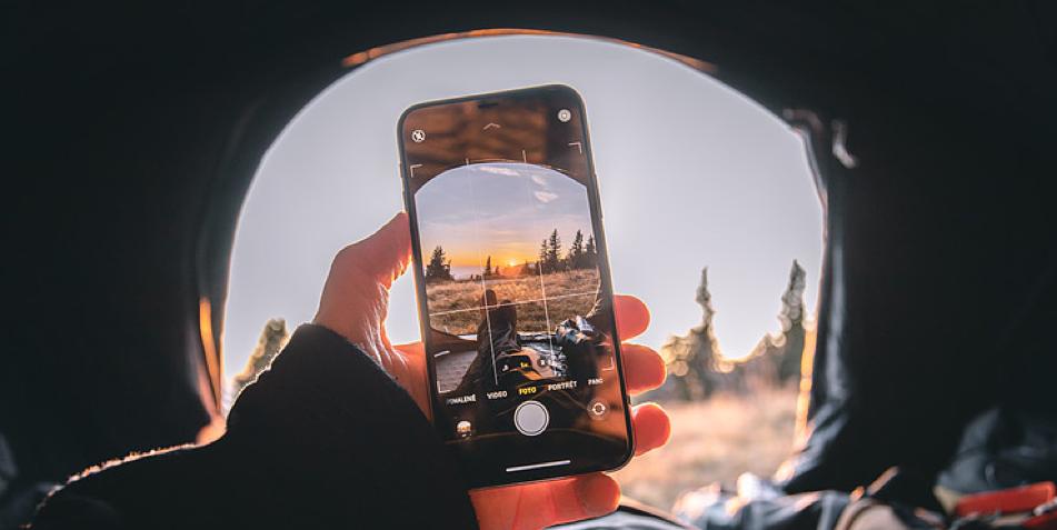 Phone inside a tent
