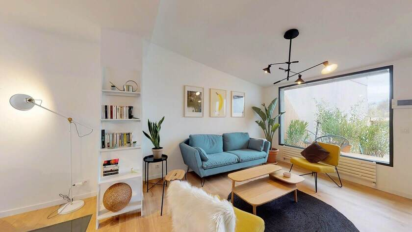 Living room of Colonies coliving house Lazarus