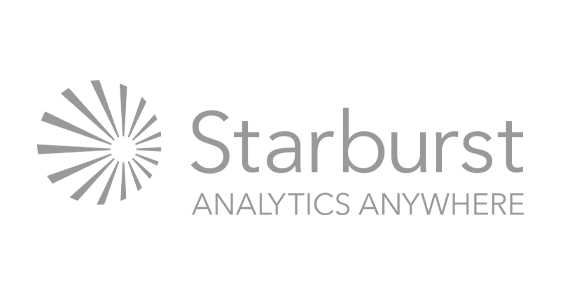 "Starburst Data logo. Tag line reads ""Analytics Anywhere"""