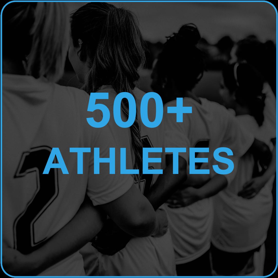 500 athletes