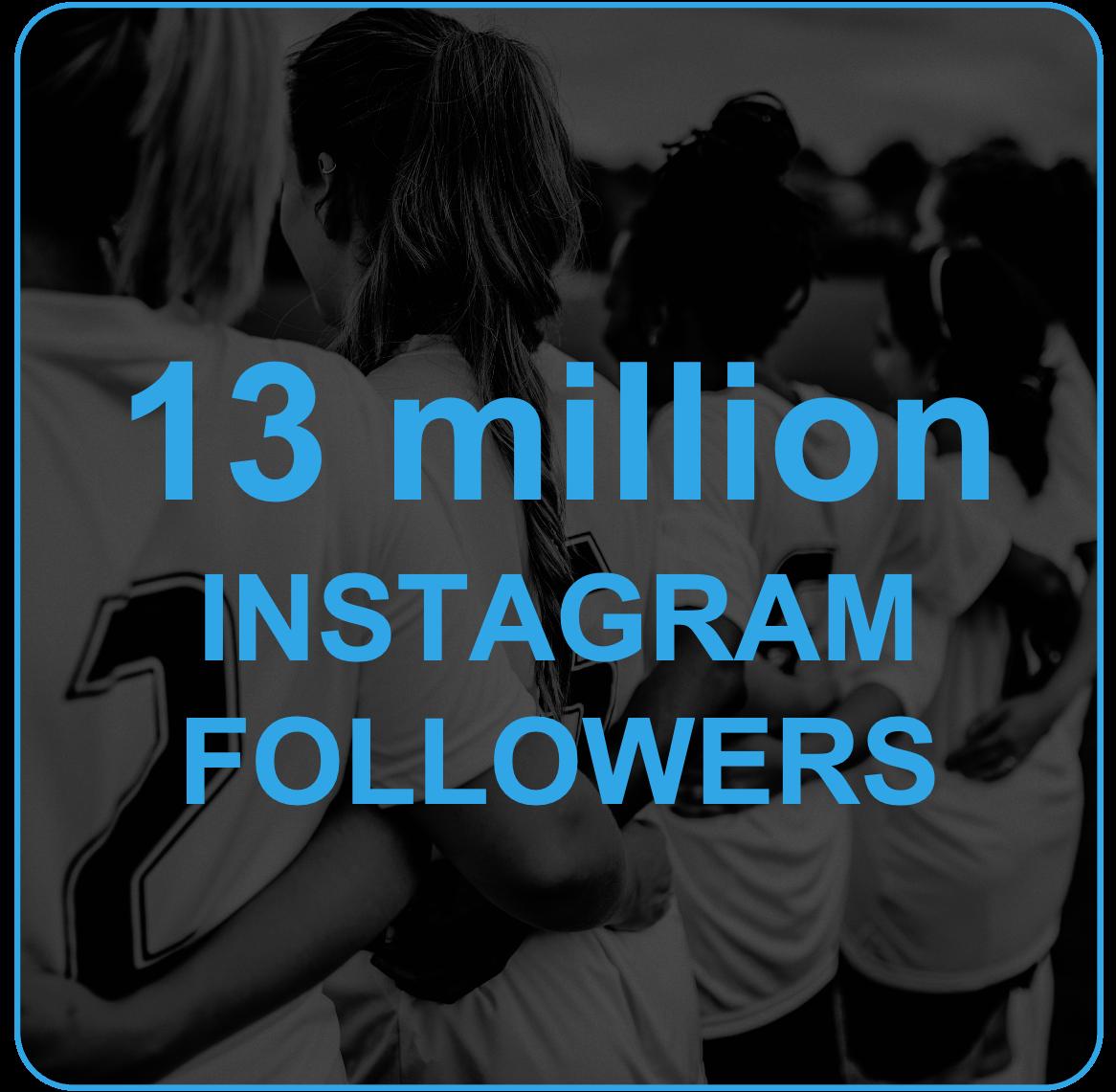 13 million instagram followers