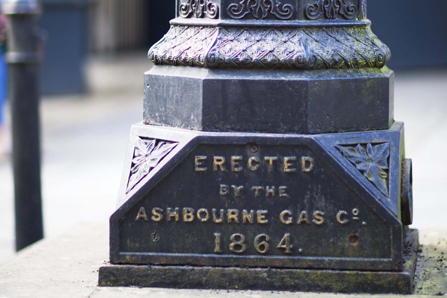 Ashbourne historical gas outlet from 1864