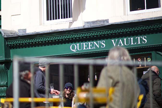 Queens Vaults pub in Ashbourne