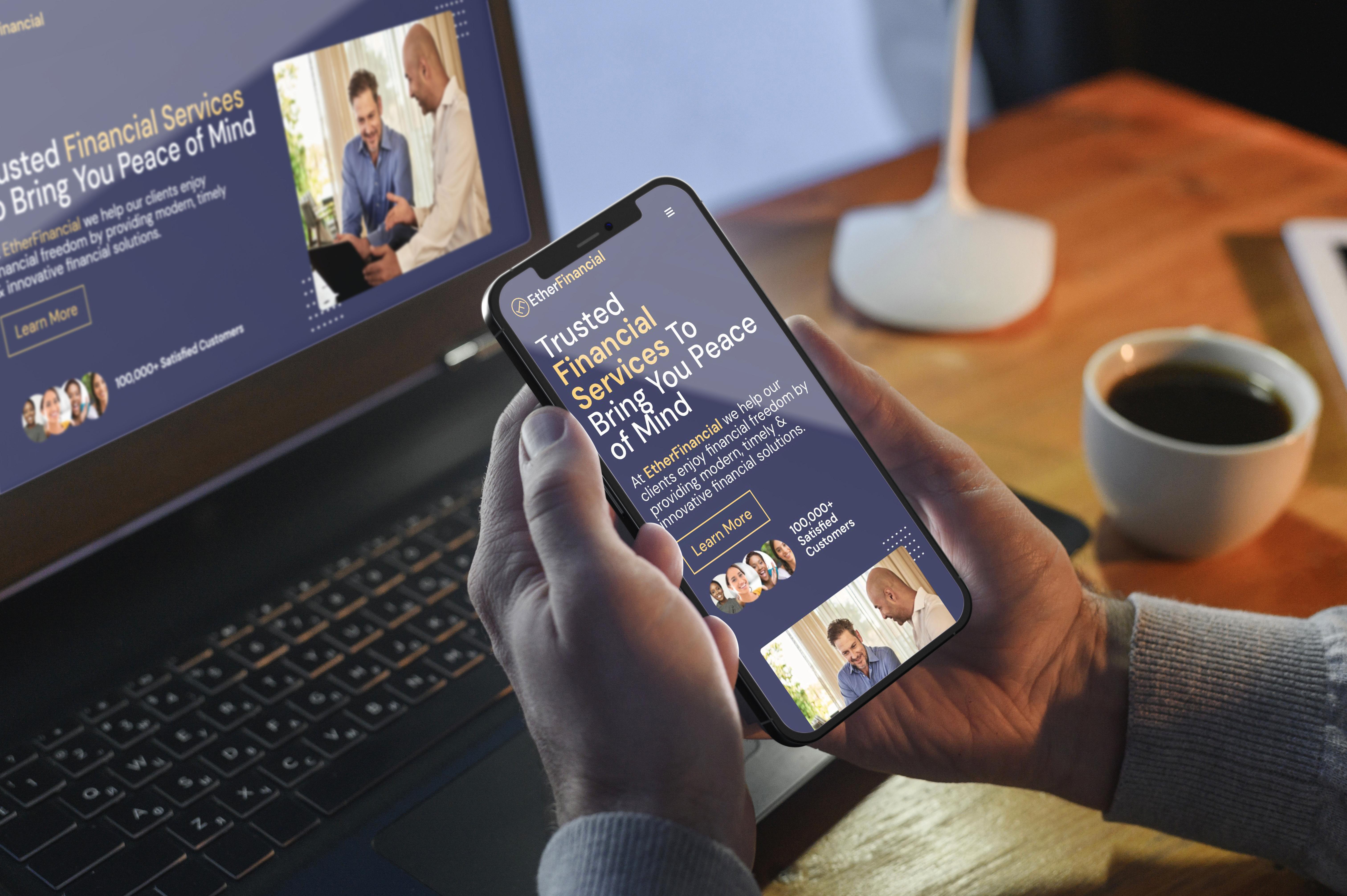 Caribbean Financial Company Mobile Responsive Design