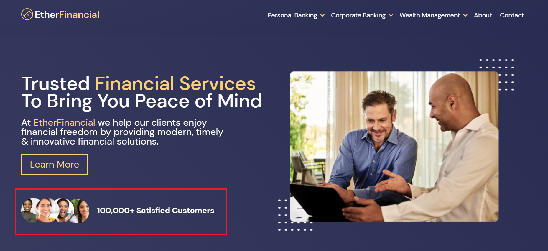 Social Proof Ether Financial