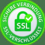 Offizielles Sichere Verbindung SSL-Verschlüsselt Siegel