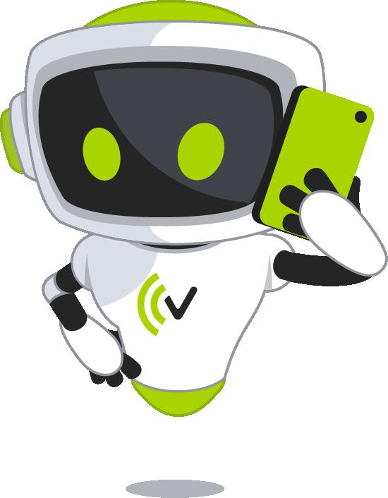 VITAS Maskottchen mit Telefon