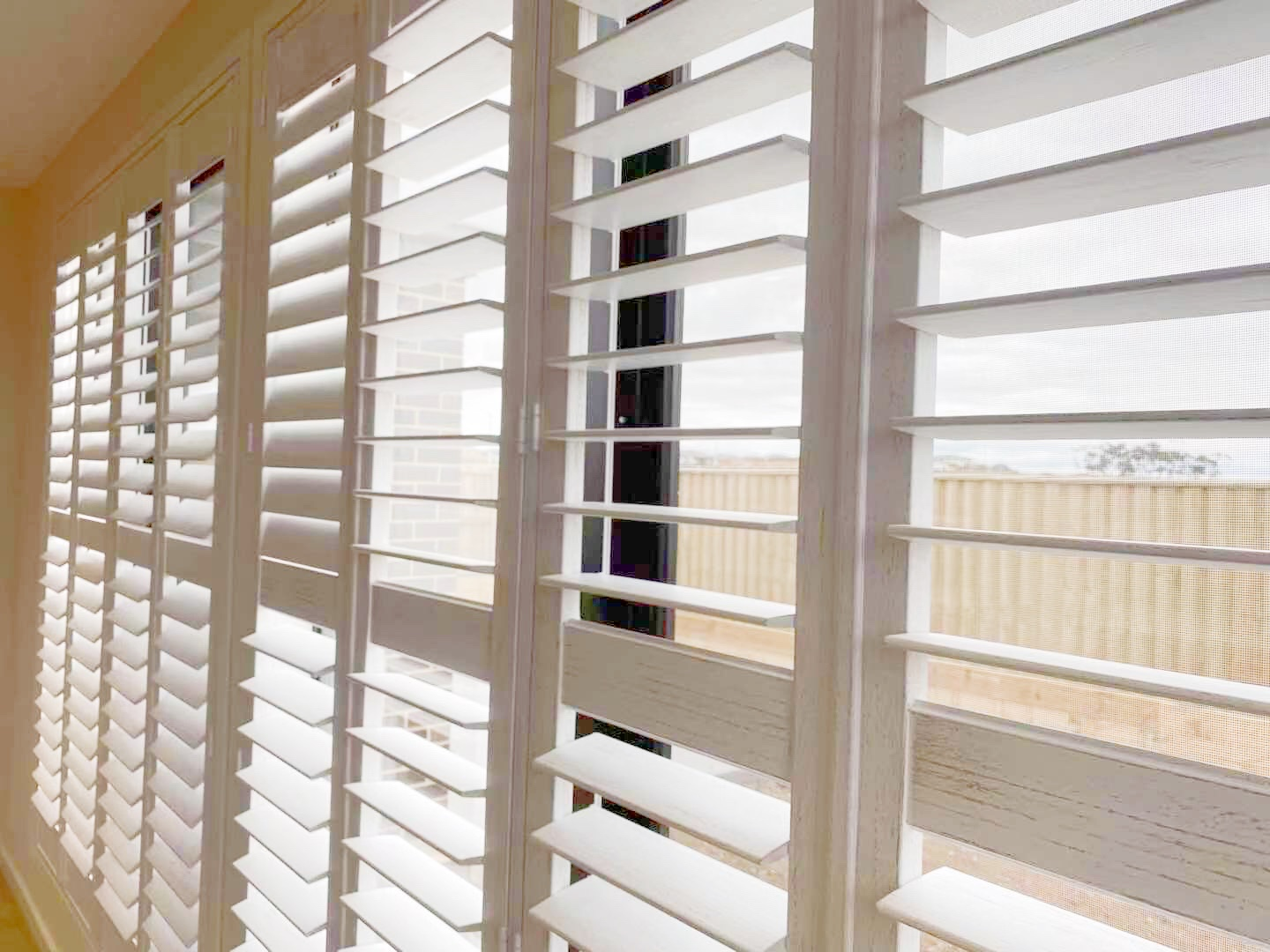 Real client photo of window furnishings