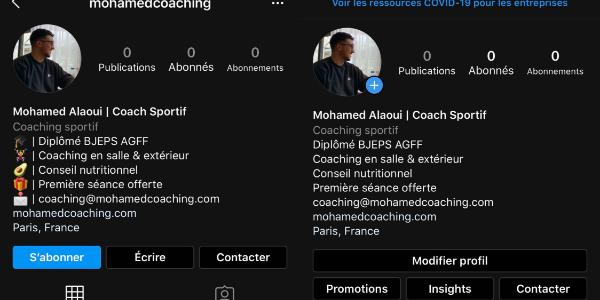 Instagram pour coach sportif
