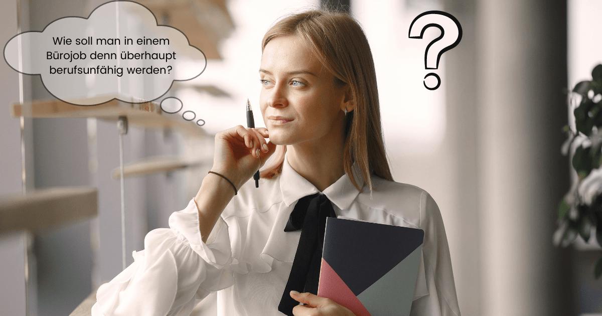 Berufsunfähigkeitsversicherung im Bürojob- Ist das sinnvoll?