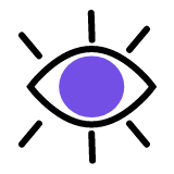 A wide open eye to signify vision