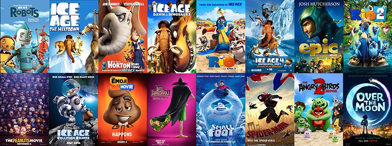 Movie posters for the films Brian Dean has been involved with.
