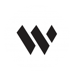 "Bayside Worship logo, a ""w"" in a white circle"