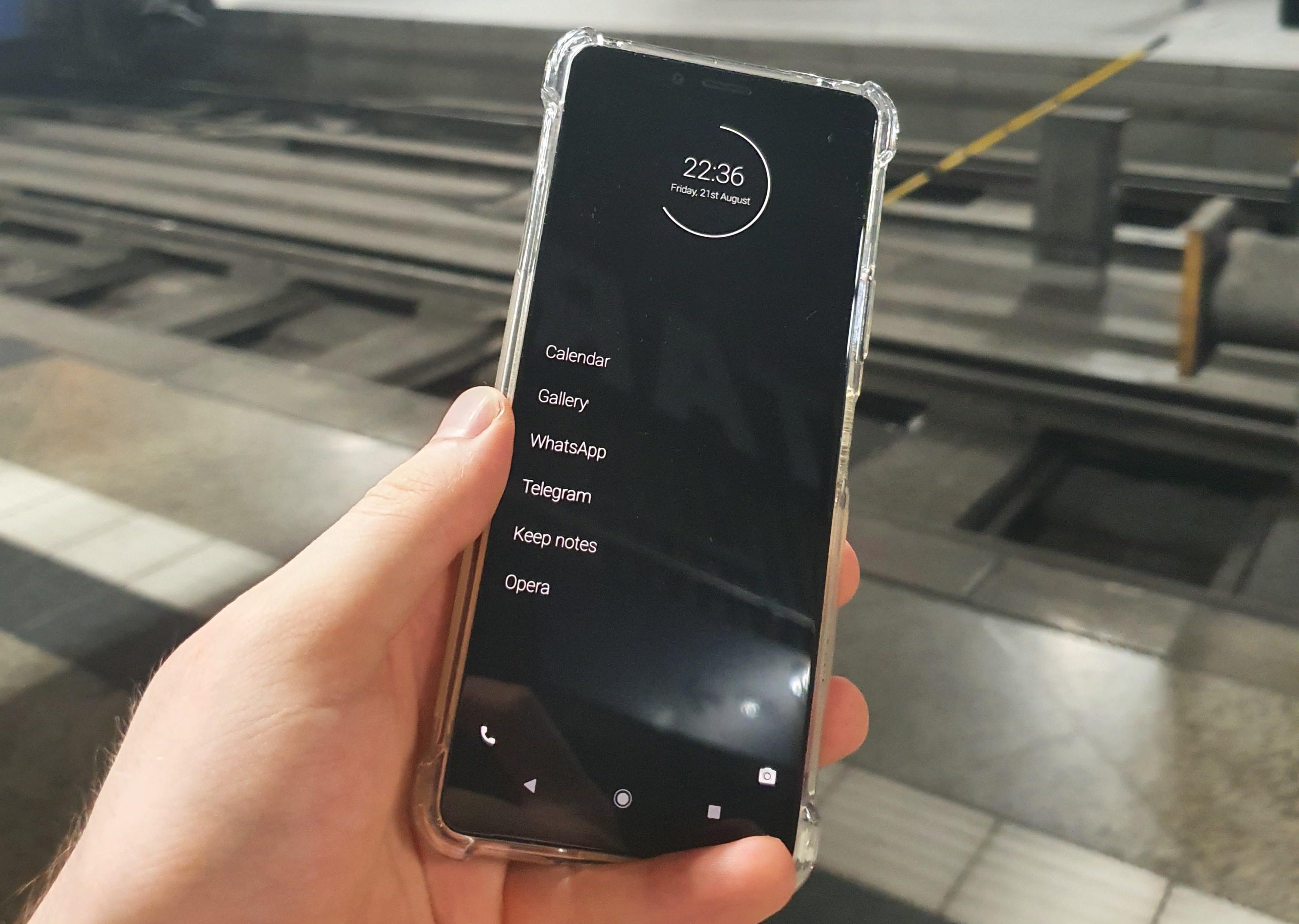 minimalist phone during travel