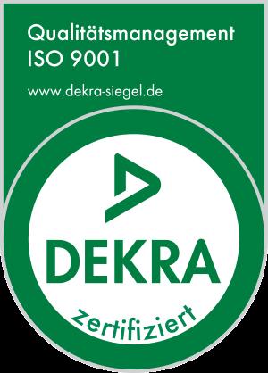 Logo of DEKRA ISO 9001 certification