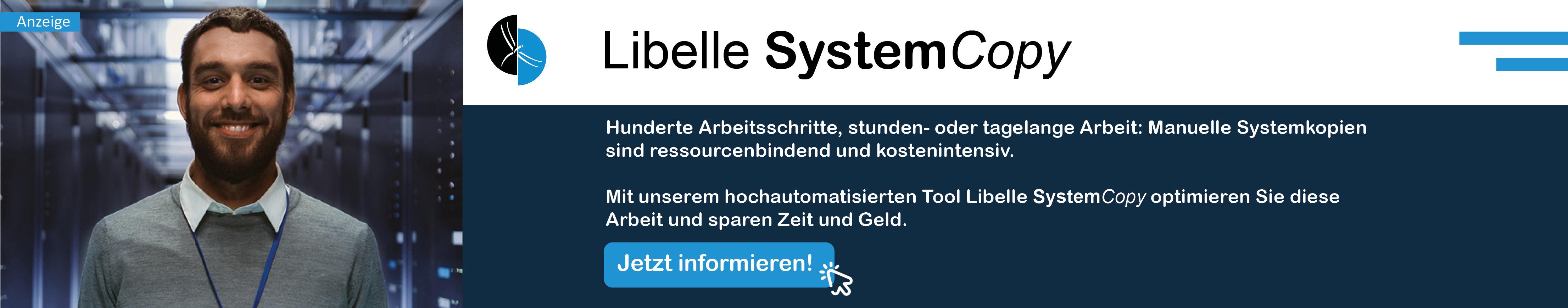 Libelle SystemCopy Werbung