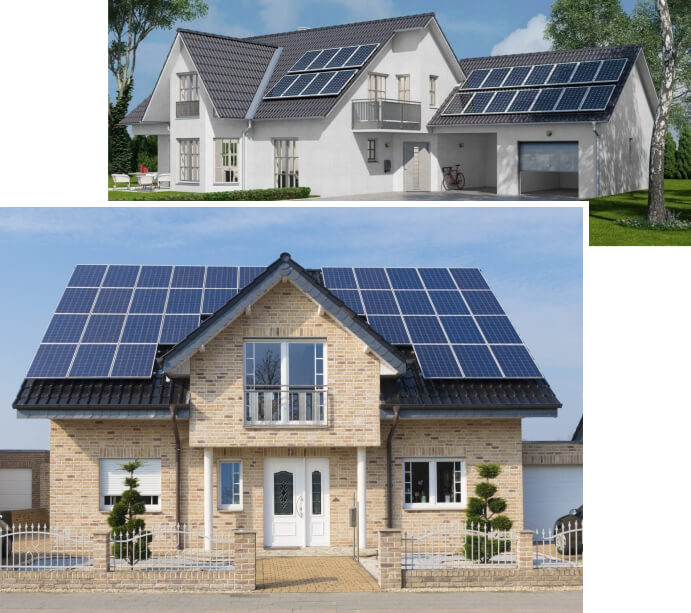 Double-storey homes with solar panels 1