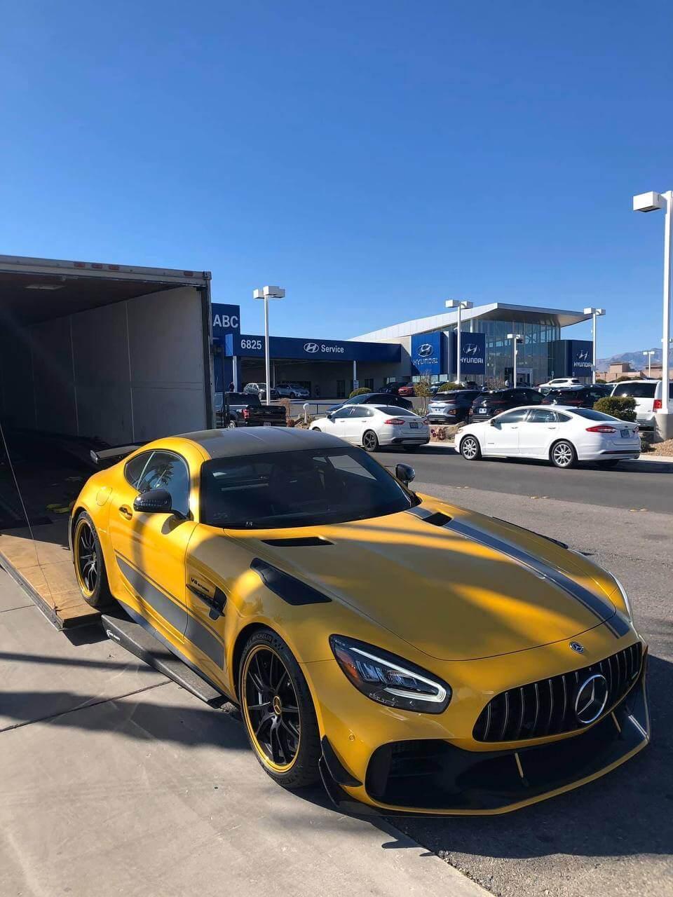 Enclosed trailer car delivery