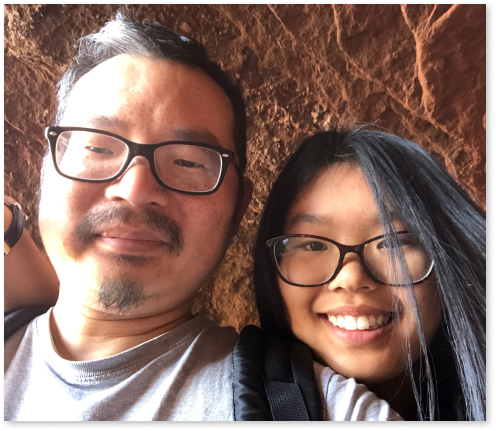 Beach Hill Bookkeeping owner, James Chan and his daughter