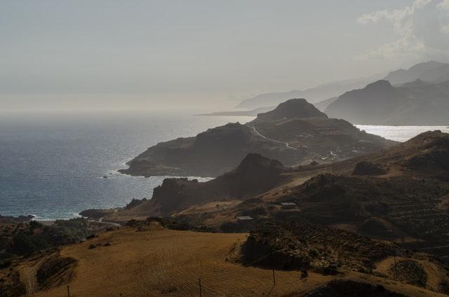beautiful landscape of Crete island in greece
