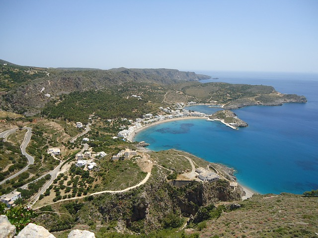 overview of the main town of kythera in one of the most remote parts of greece
