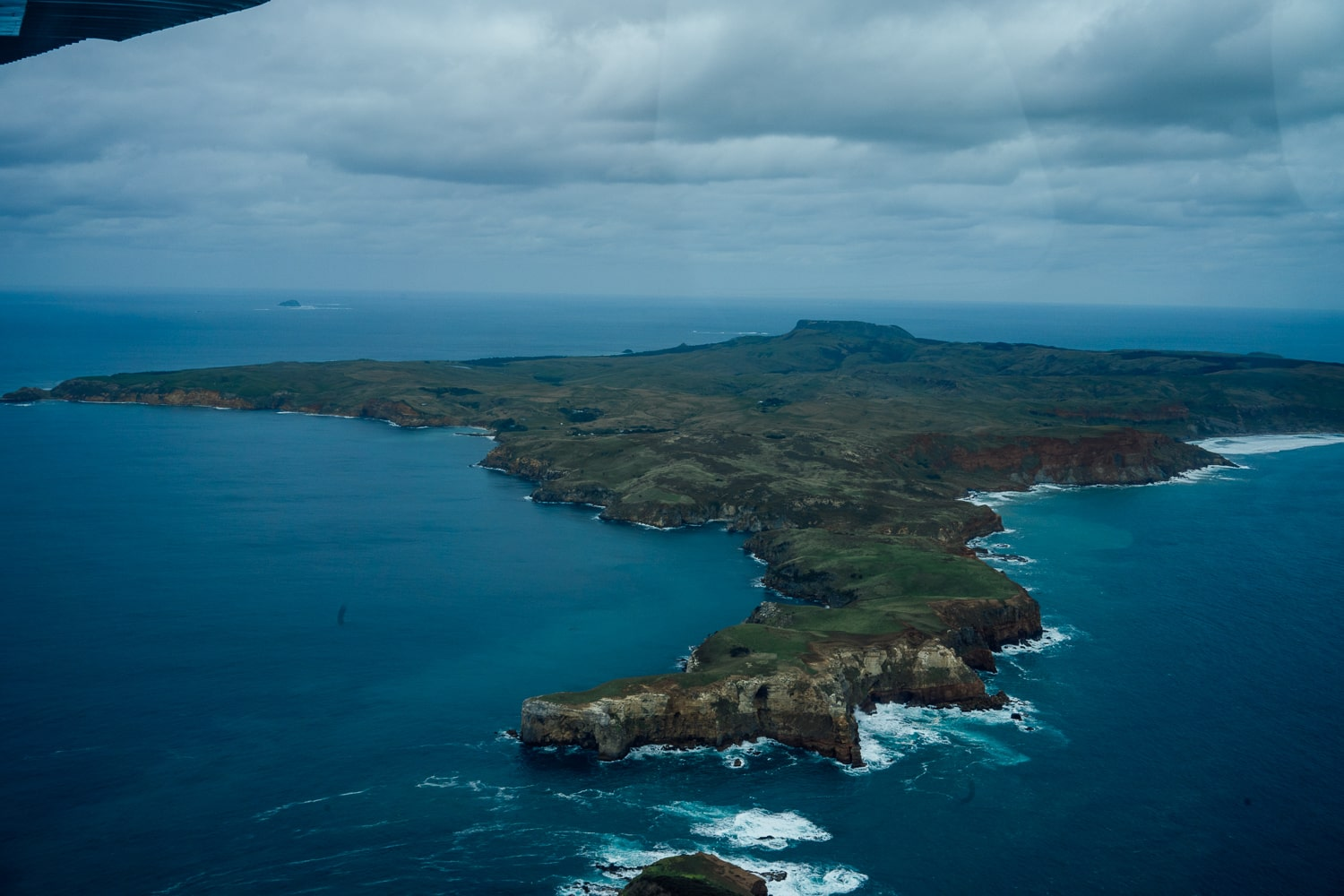 overlooking the chatham islands in the remotest part of New Zealand