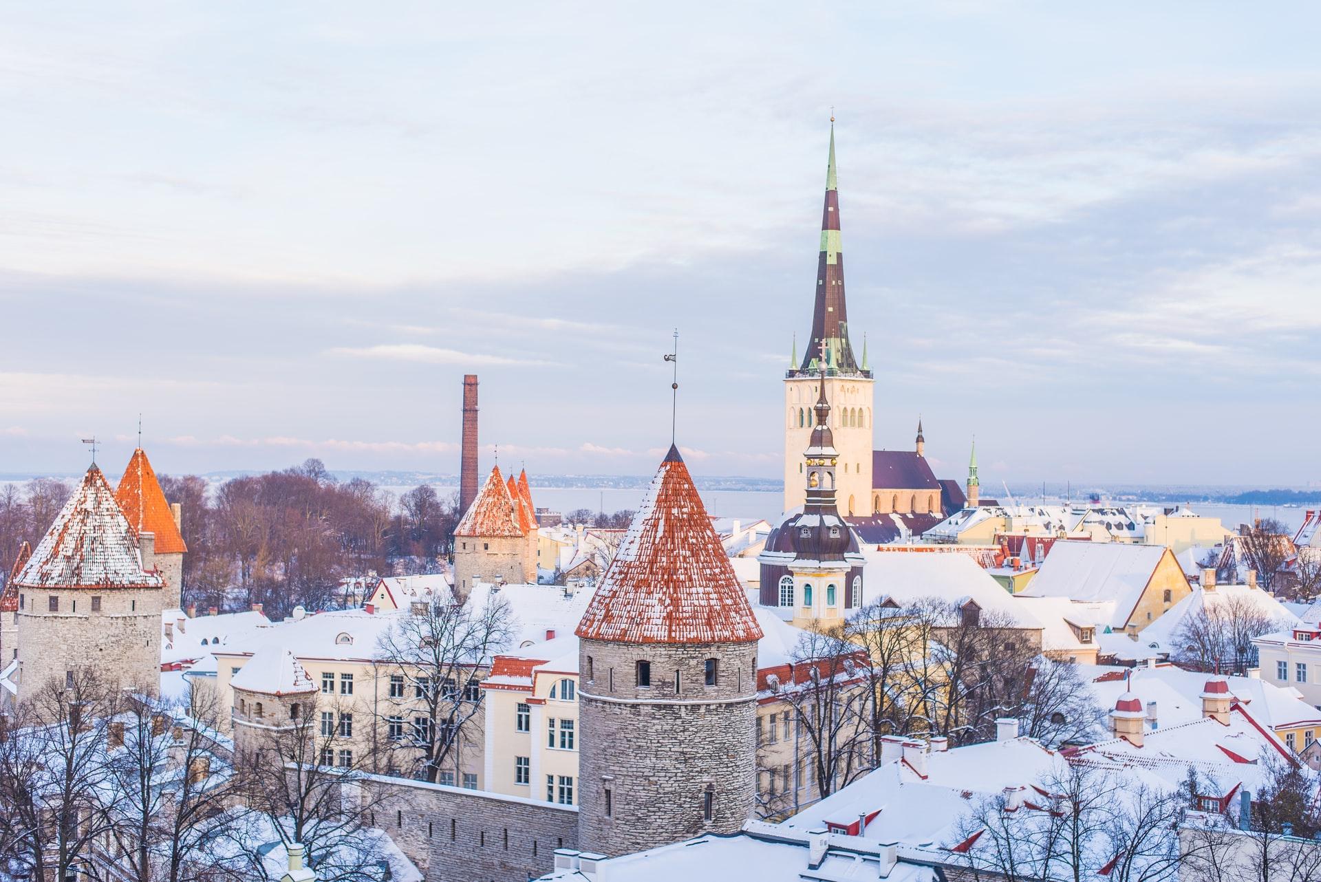 view of tallin - estonia offering digital nomad visas for entrepreneurs