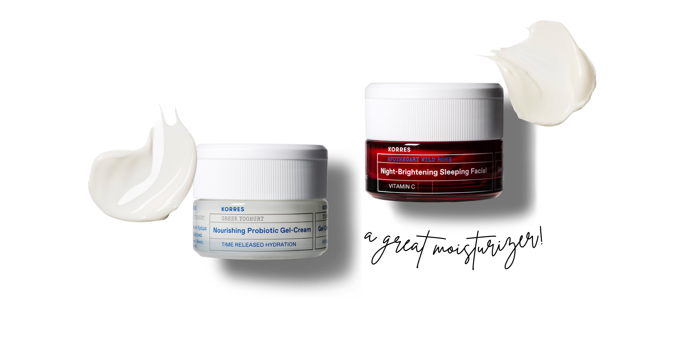 moisturisers for your skincare travel kit that are amazing from Korres