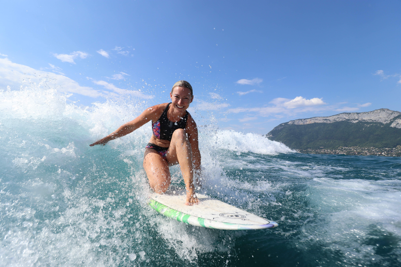 Wakesurf sur le Lac d'Annecy