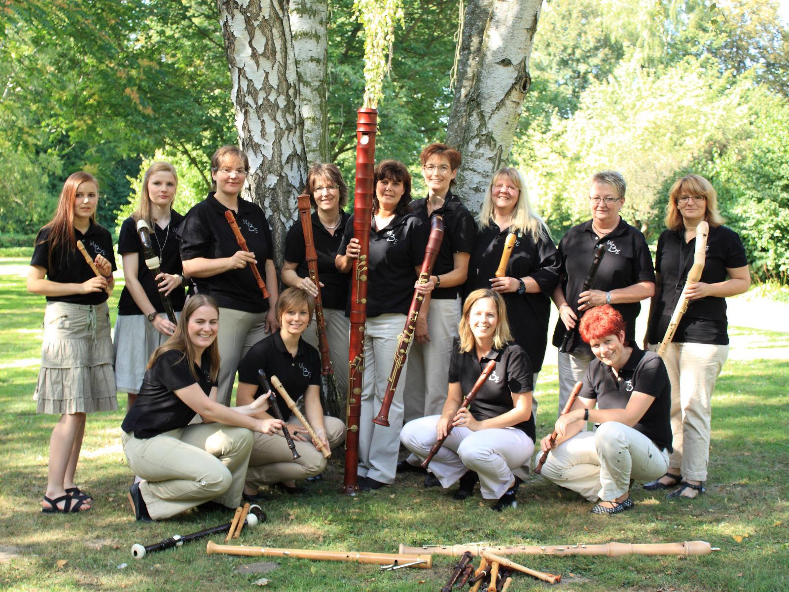 Das Team vom WBE mit ihren Instrumenten.
