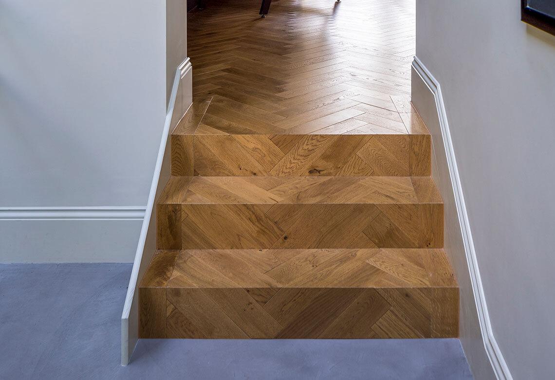Matched parquet steps