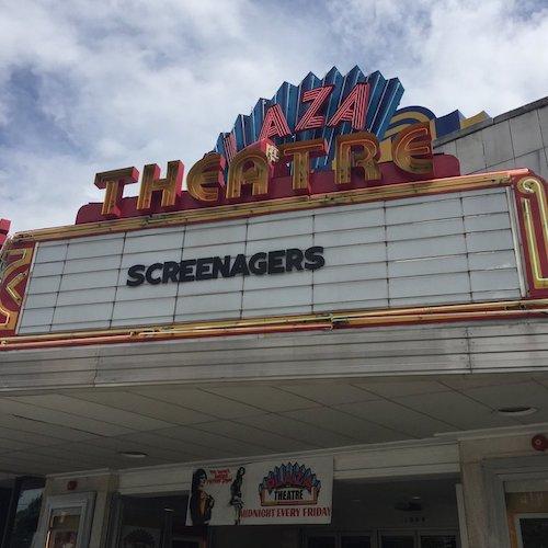 Screenagers on cinema billboard