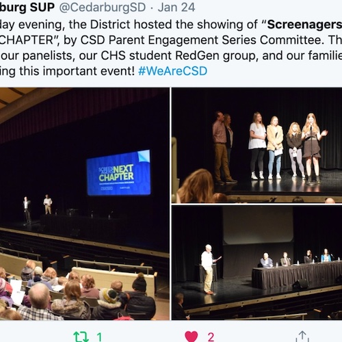 Delaney Ruston Screenagers Filmmaker speaking on stage