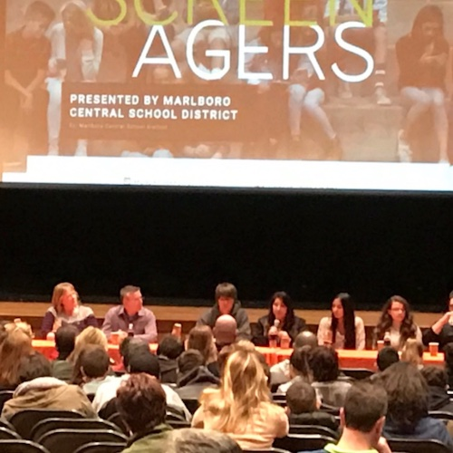 panel answering questions at screenagers event