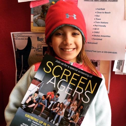 child at screenagers screening