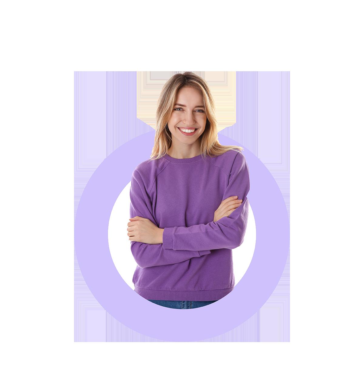Femme en violet Orthographiq