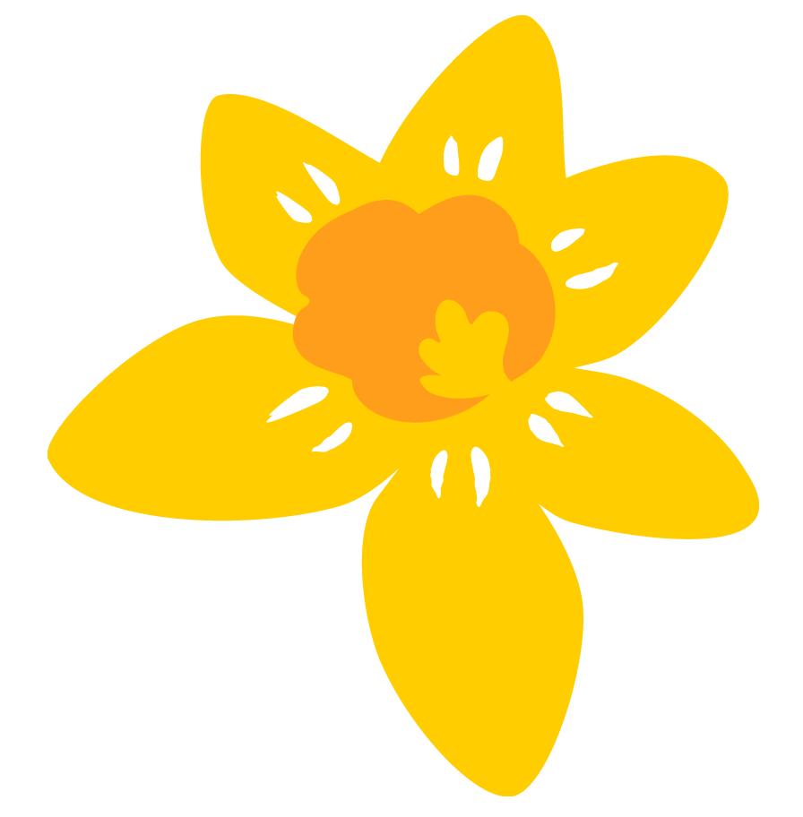 Marie Curie Flower Logo