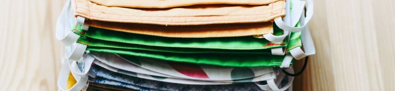 A stack of cloth masks
