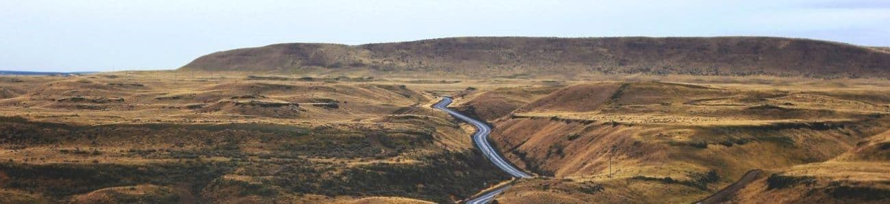 a road winding through the hills