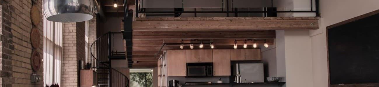 An interior kitchen of a modern home
