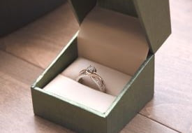 A ring in a ring box