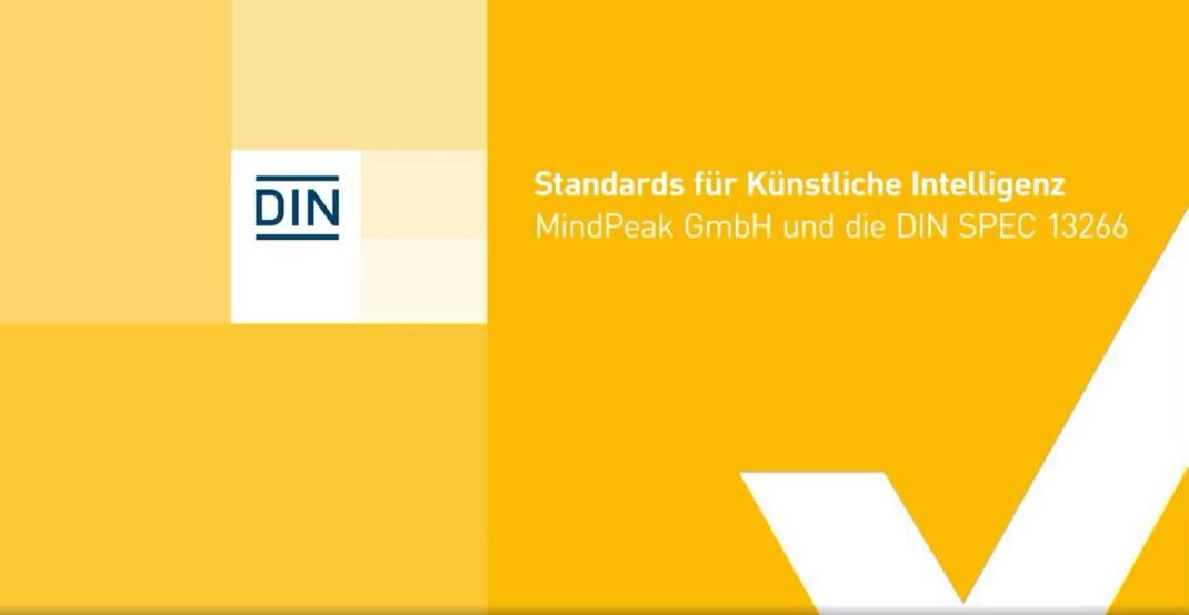 DIN - Mindpeak und ein Standard für Künstliche Intelligenz   Video