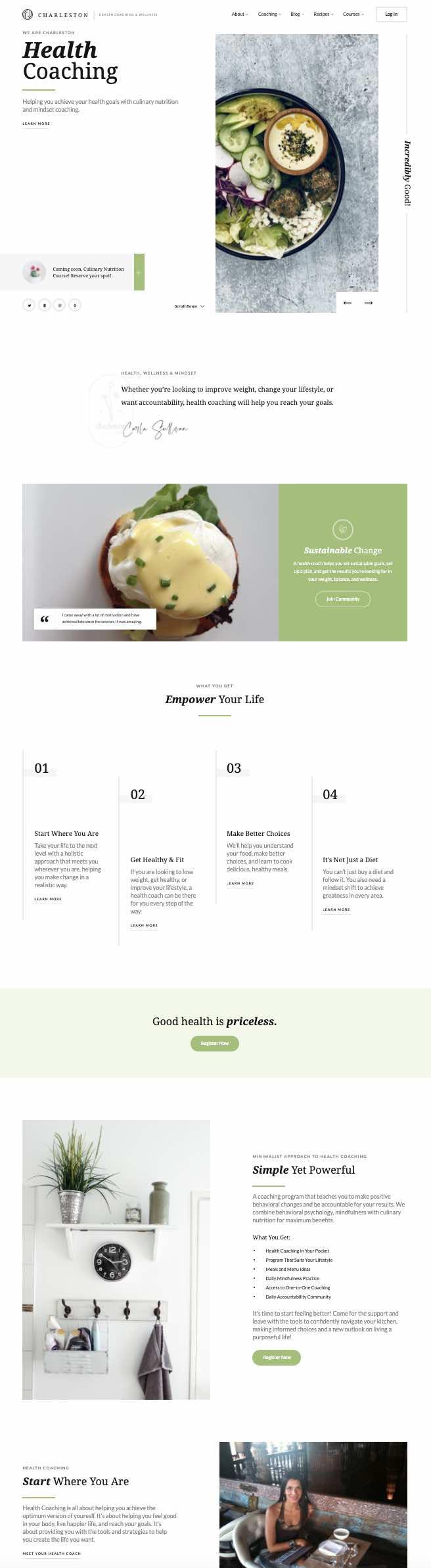 Website Design for Health Coach