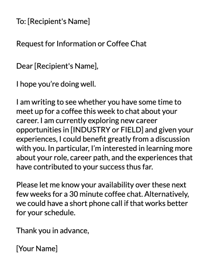 Career Path Email Message Template