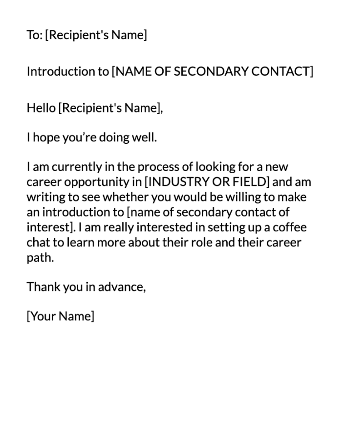 Introduction Email Message Template