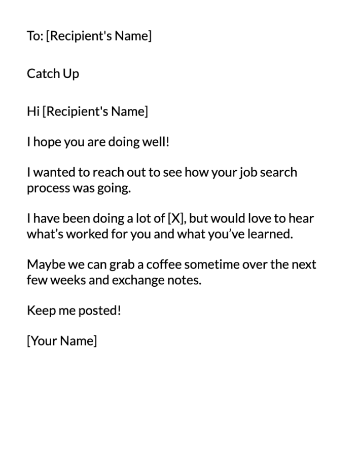 Update Classmate Email Message Template